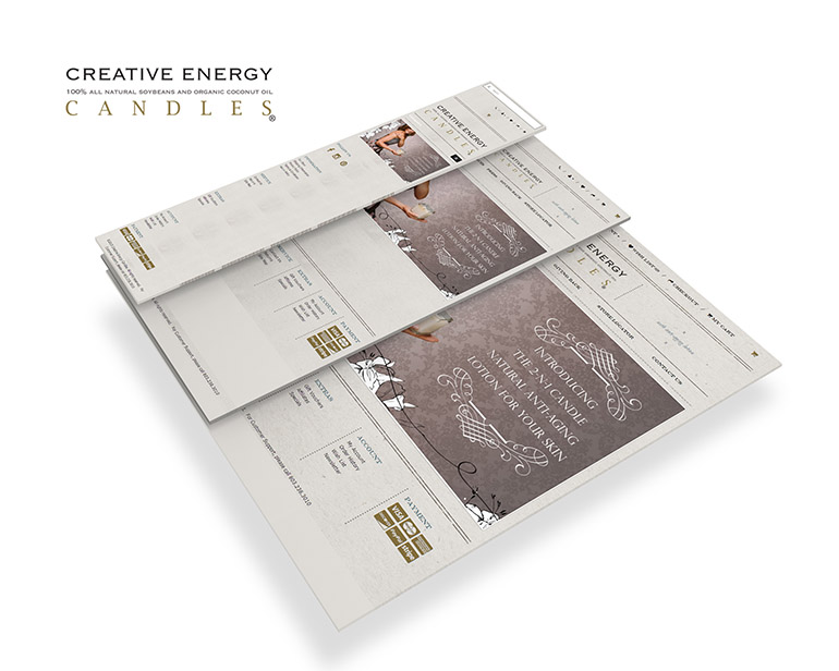 creative energy candles Three Responsive