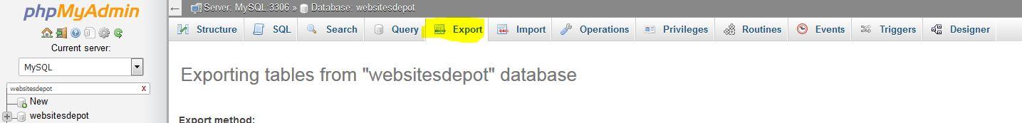 backupbuddy database export