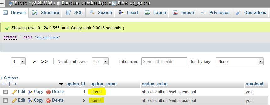 wordpress database migration