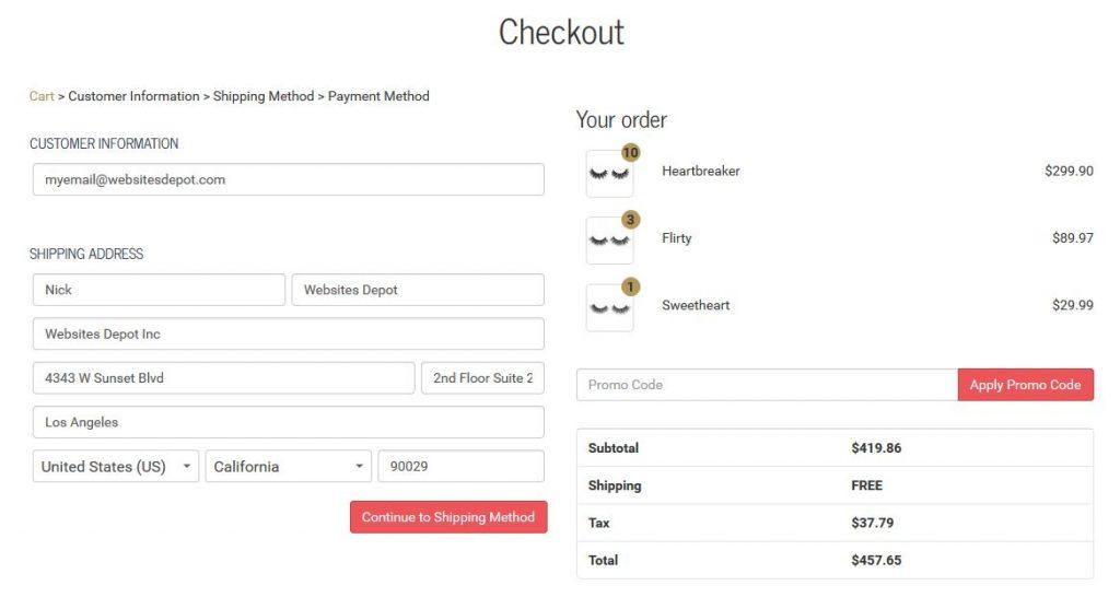 shopify style checkout