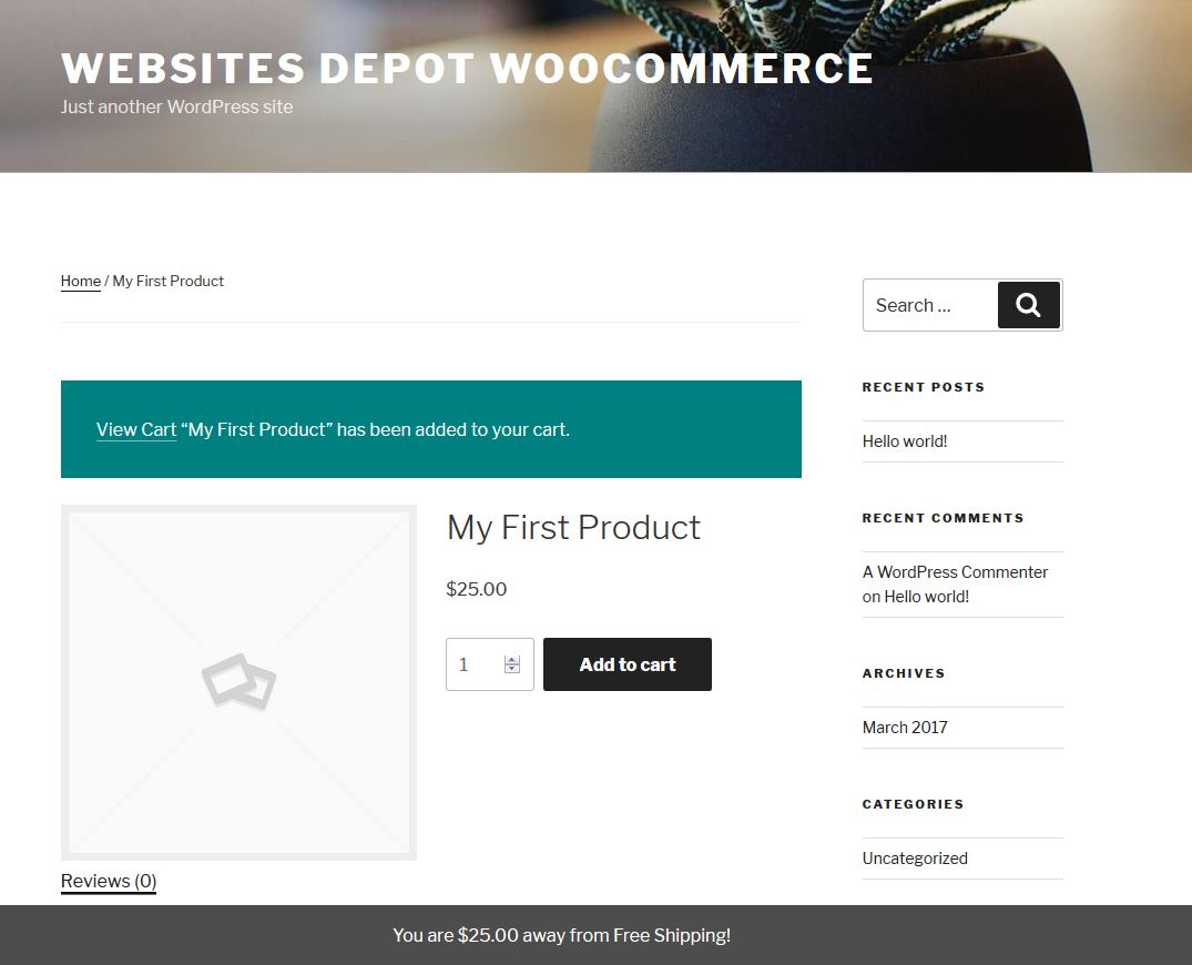 woocommerce ajax fragments footer bar free shipping