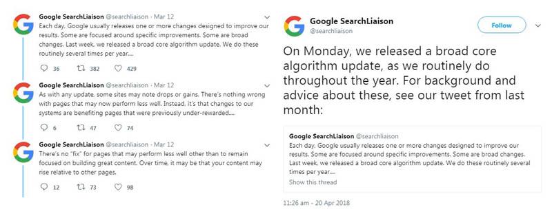 2018 Google's Algorithm Update