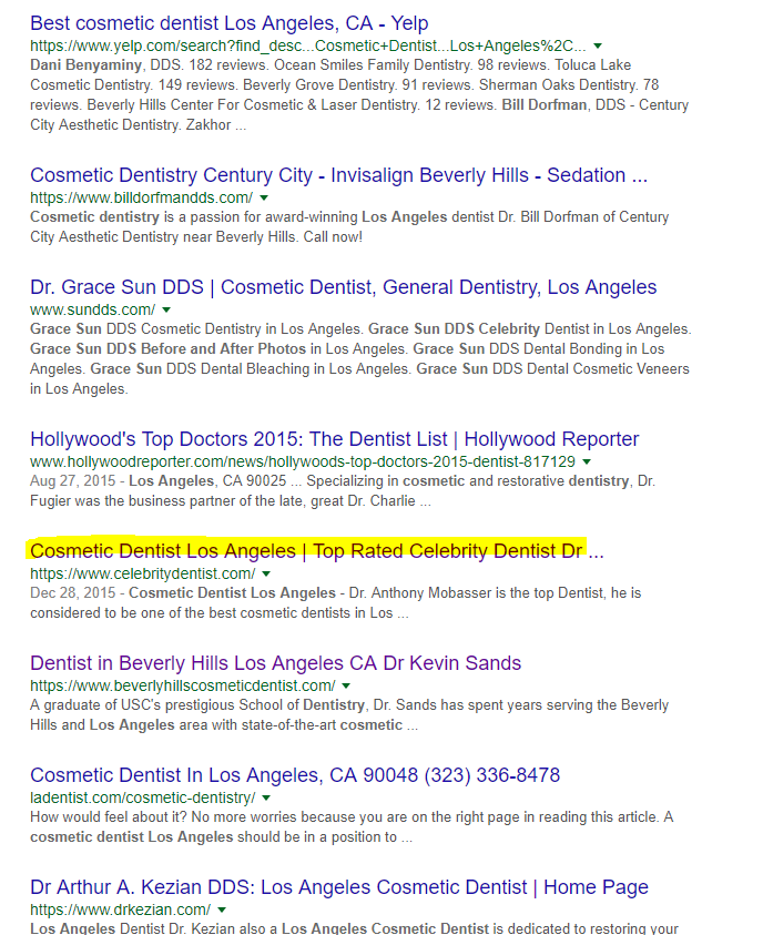 dental marketing los angeles