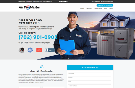 airpromaster homepage websites depot