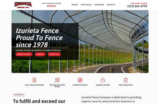 izurieta fence co homepage websites depot