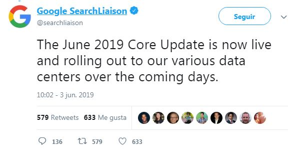 google algorithm update june