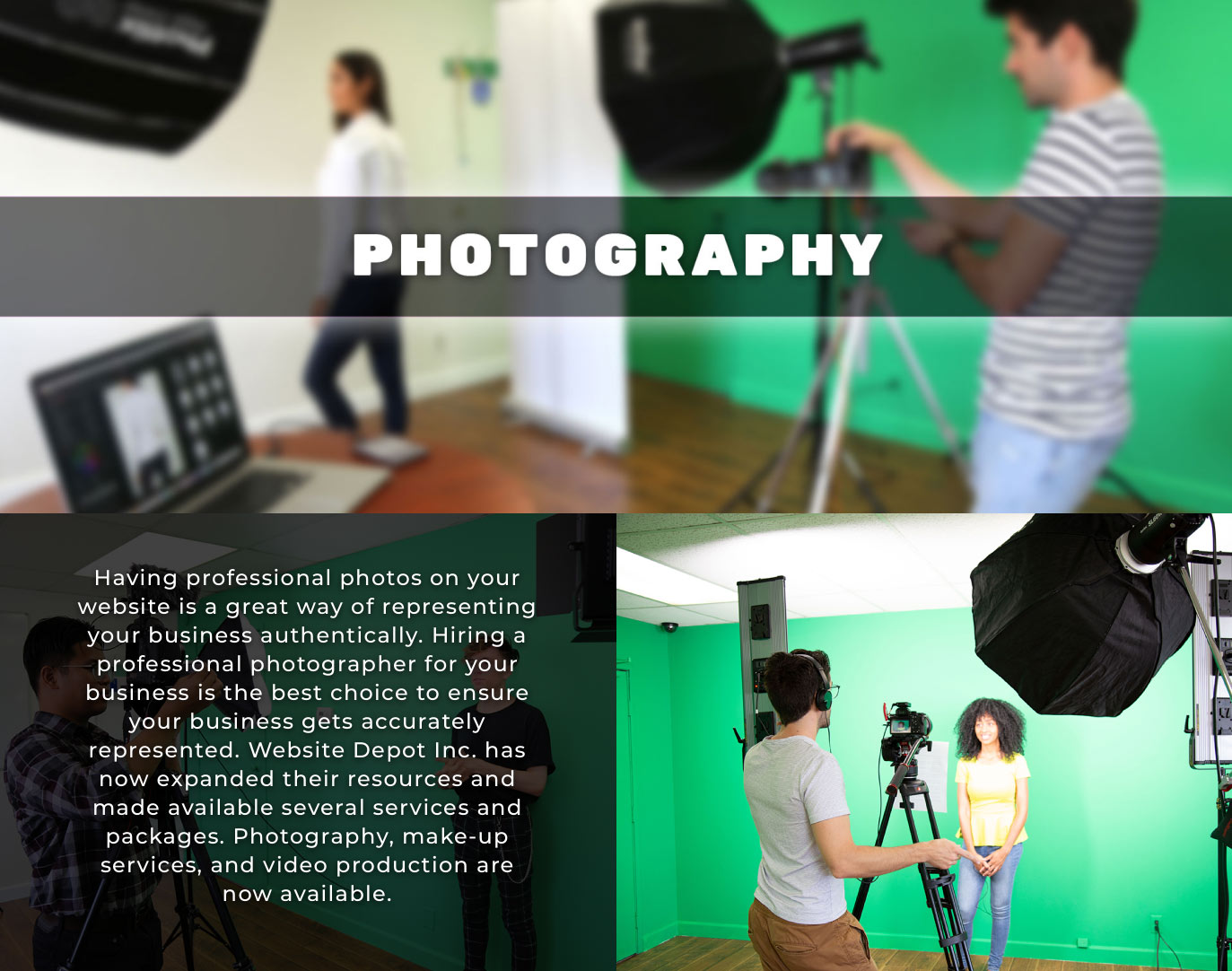 photography page main heading