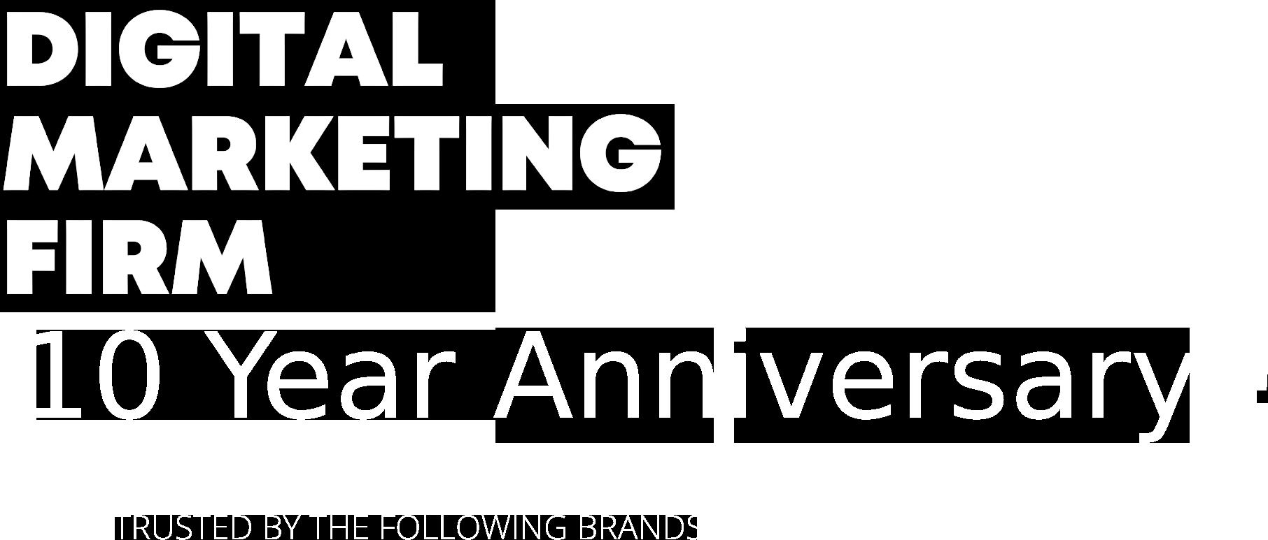 digital marketing anniversary  years website depot